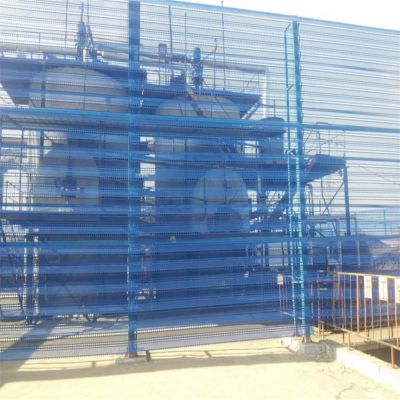 煤场防风抑尘板 金属防风墙 圆孔挡风板