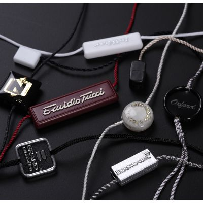 塑料单插服装吊绳 白色通用吊粒现货 优质方块黑色吊牌挂绳批发