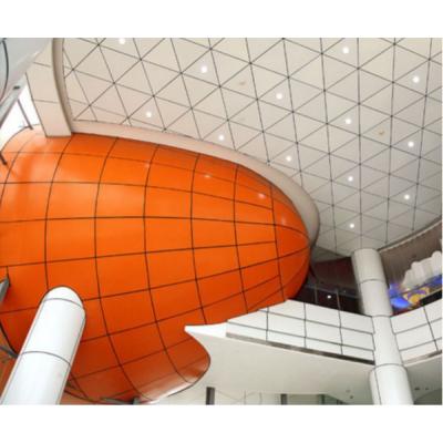 帝欣外墙装饰铝板 厂家定制氟碳平面造型冲孔双曲弧形雕花镂空铝单板