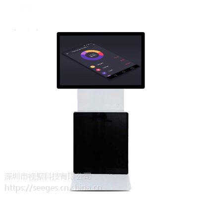 SHJ-XZ-32A32/43/49/55寸立式旋转广告机 横竖屏液晶旋转款触摸一体机 触摸屏广告机