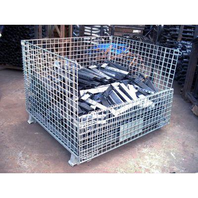 广西利欣定制折叠蝴蝶周转仓储笼,移动式仓储笼规格,价格