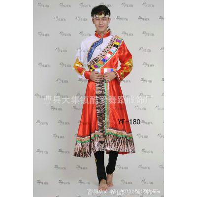 男藏族演出服装民族舞台装蒙古族表演服装儿童舞蹈服壮族藏族服装