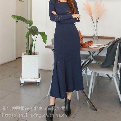 DNCY杭州库存尾货批发市场折扣 品牌时尚女装批发尾货红色风衣