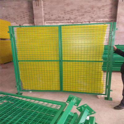 黄色车间隔离网 移动车间护栏 车间设备隔离网