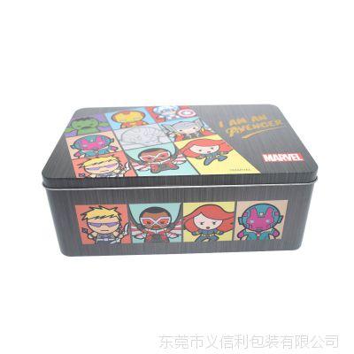 精美卡通图案糖果马口铁盒铁罐定制 长方形饼干食品铁盒圣诞礼品包装