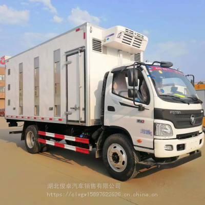 福田欧曼前四后八大型拉猪车、能拉100头猪的大型禽畜运输车厂家直销