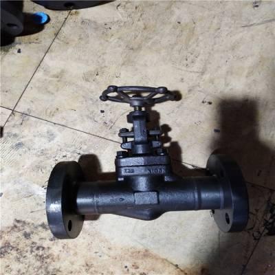 电厂蒸汽管道截止阀 J41H-16C DN32 国标锻压锻钢A105N法兰截止阀 J41Y