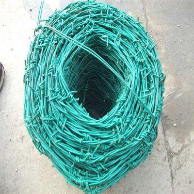 包塑铁丝网 镀锌钢刺线 高速公路铁刺绳