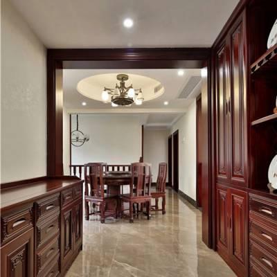 长沙原木家具厂整体原木储物柜、玄关柜定制厂家承诺