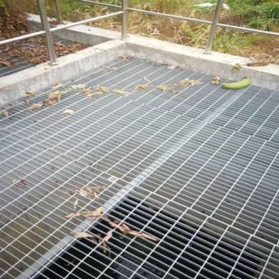 加工定制热镀锌钢格板 小区车库地沟盖板 江西平台