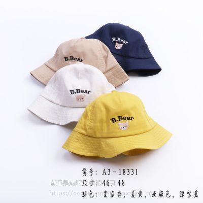 夏季必备款儿童可爱时尚遮阳盆帽