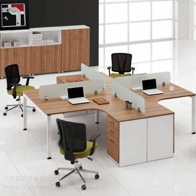 【厂家供应】云南办公家具,屏风组合办公桌,简约屏风办公桌