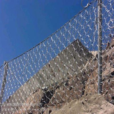 四川边坡防护网厂家,主动被动边坡防护网销售钿汇鑫品牌山体防护勾花网。