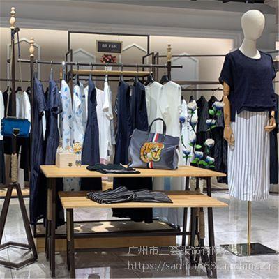E15夏2019新款欧美风格连衣裙依熏品牌折扣尾货女装