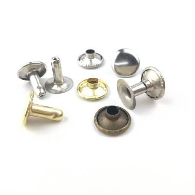 8*8纯铜双面铆钉黄铜箱包撞钉柳钉子母撞钉扁平撞钉帽钉