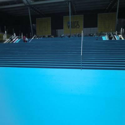 深圳龙岗会展中心安装天蓝覆膜平面展览地毯