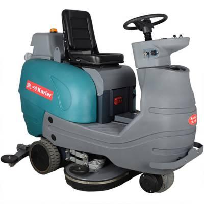 凯叻驾驶式双刷洗地机KL950 山东洗地机 刷地机报价 学院、体育场馆用拖地机