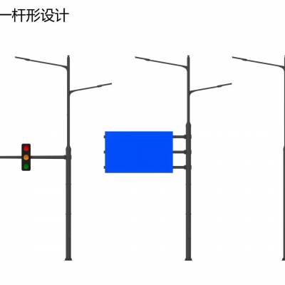 四川电子警察杆件厂家/单悬式路标杆价格