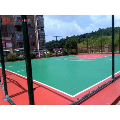 株洲室外露天篮球场地胶设计--天元小区楼顶塑胶球场施工方案图