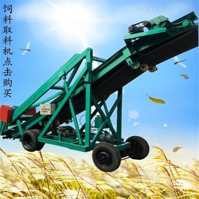 牧草青贮取料机 电动大型取草机 青储秸秆饲料装取机