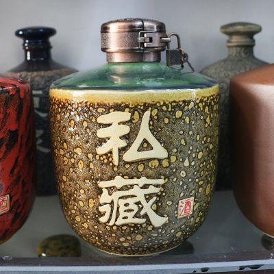 陶瓷酒坛酒瓶白酒瓶子泡酒罐大小酒缸酒罐5斤10斤20斤30斤50斤装酒坛子可带龙头密封手工雕刻
