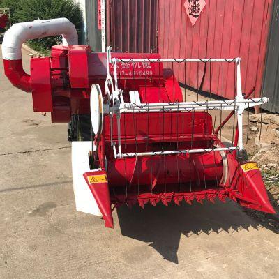 手扶联合收割机 哪里有卖收小块地小麦收割器的 小型收割脱粒机厂家