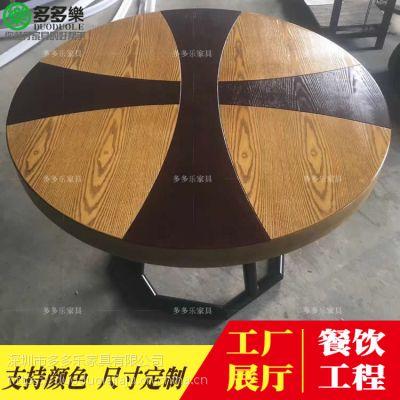 胡胖子餐厅复古风主题板式餐桌椅多多乐家具供应 免费设计 送货安装
