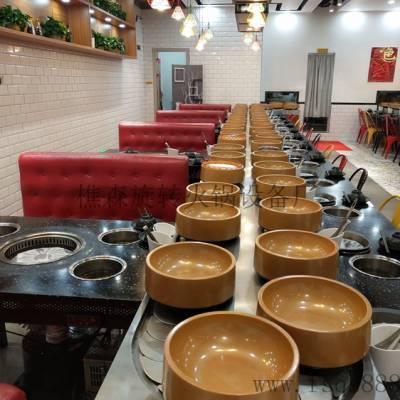 转转小火锅设备厂家直销回转火锅设备 旋转麻辣烫餐桌 自动传送火锅设备
