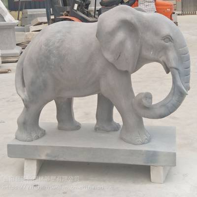 供应大理石石雕大象 招财镇宅一对小象 别墅家用工艺品装饰摆件