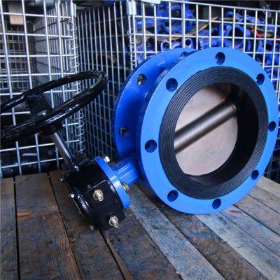 法兰式蜗轮蝶阀D341X-10C DN700气体管道上作调节流量和截流介质的作用