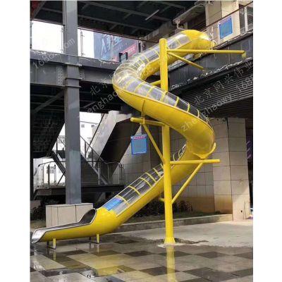 商场不锈钢滑梯 儿童乐园游乐滑梯滑道定制 室内大型不锈钢旋转滑梯 厂家直销定做