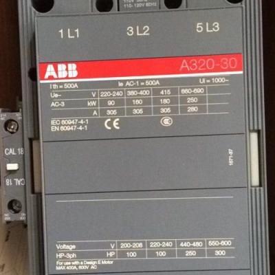 原装正品ABB交流接触器A320-30-11 110V 220V 380V 300A安装尺寸