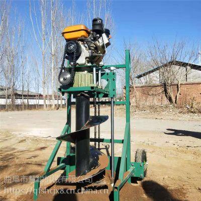 树木种植手提式挖坑机/多用型挖坑植树机/配套打桩机小型手提式汽油地钻机