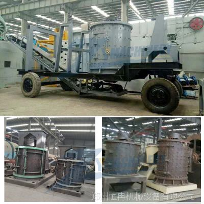 时产100吨立轴复合破碎机 砂石料反击式破碎机 河卵石打砂机