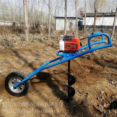 荒山种树汽油挖坑机 金佳电线杆打眼打洞机 单人手提式果园挖坑机