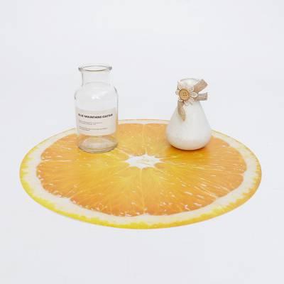 圆形缤纷果冻色水果杯垫订做创意pvc软胶防滑隔热餐垫量大从优