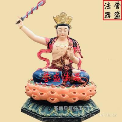 【誉盛法器】1.5米五方文殊菩萨 玻璃钢彩绘佛像