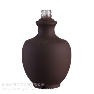 厂家定做新款500ml磨砂玻璃酒瓶 100ml四方玻璃瓶 250ml果酒瓶 红酒瓶