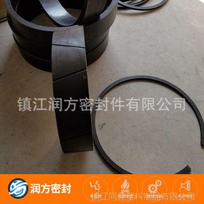 大型号的聚四氟乙烯PTFE碳纤模压垫片 垫圈的毛胚生产跟加工制作