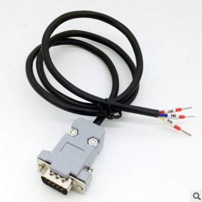 西安舟正科技现货供应串口头DB9免焊接头插头9针转接线端子RS232接头COM口公母头