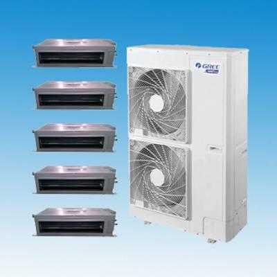 北京格力中央空调多联机 家庭中央空调一拖五 中央空调格力
