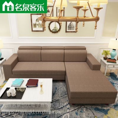大连软包家具020-5客厅布艺组合沙发工厂直销