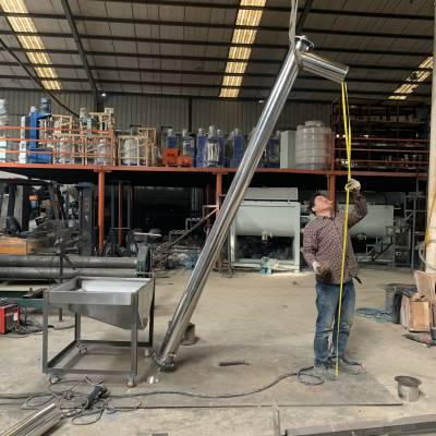 大小型定制、不锈钢打造螺旋上料机、干粉上料机、颗粒提升机