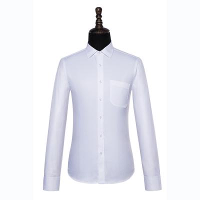 贵州男衬衣定做,行政衬衫订制批发,修身衬衫订做,GY5001白色60%棉平纹长袖男衬衣