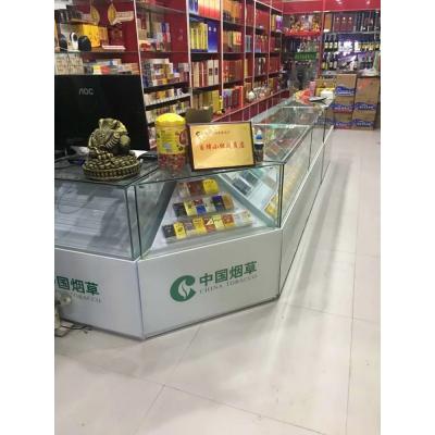 供应新款铁质发光烟柜展示柜台亚克力透明烟架