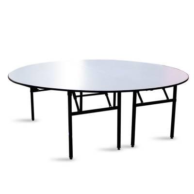 恒鑫雅酒店餐桌对拼折叠圆桌宴会圆桌3米大圆桌PVC软面半圆桌折叠餐桌