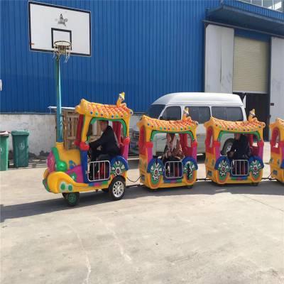 廣場商場景區步行街無軌觀覽小火車娛樂玩具12座炫彩瓦片觀光火車