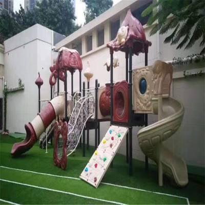 江西萍乡专业定做不锈钢组合滑梯整套 幼儿园公园滑梯游乐设备木质滑梯厂家