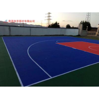湖南幼儿园环保塑胶跑道设计/小区易清洗的篮球场地厂家