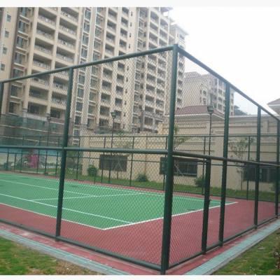 运动场围栏 操场围网 篮球场围网厂家 绿色铁丝网勾花护栏